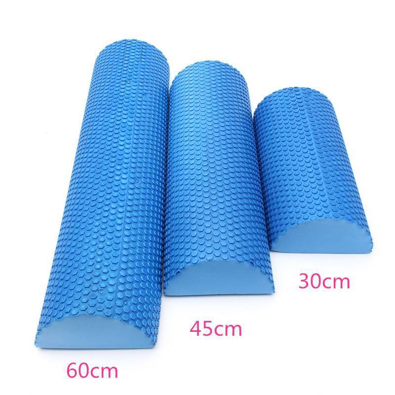 Hot Sale Blue Yoga Blocks EVA Foam Yoga Roller Pilates Fitness Half Round Foam Roller With Massage Floating Point 30cm 45cm 60cm 30cm 15cm electric vibration eva foam roller floating point fitness massage roller 3 speed adjustable for physical therapy