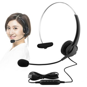 Image 5 - USB Earphones Handsfree Headphones With Mic Headset Noise Cancelling Adjustable Call For Gaming headset Computer Business Gamer
