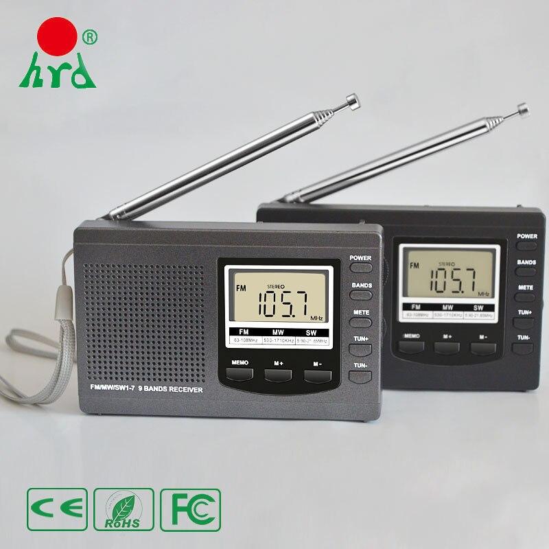 Portable Numérique Radio À Ondes Courtes Récepteur et FM Radio AM avec Monde Bande Transistor Noir