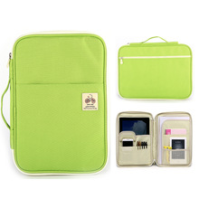Zipper A4 File Folder Kawaii Casual Multi Document Organizer Portfolio Filing Holder Office Book Briefcase Ipad Storage Case Bag цена