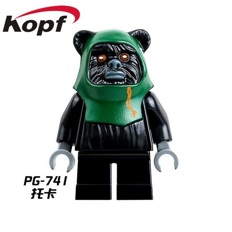 Single-Sale-Star-Wars-Ewok-Village-Tan-Tokkat-Wicket-Logray-10236-Battle-of-Endor-8038-Building-Blocks-Toys-for-children-PG8067-4