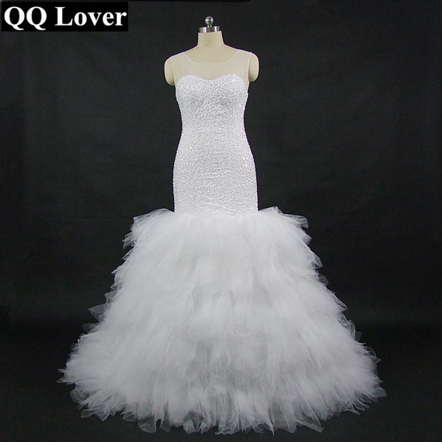 QQ Lover 2018 African Fashion Style Mermaid Wedding Dress With Video ...