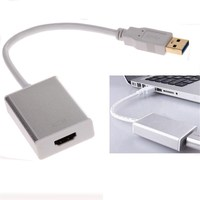 USB 3.0 to HDMI Multi Display Video Graphic Converter Digital Smart Audio AV Adapter USB3.0 Cable for HDMI with CD Driver White