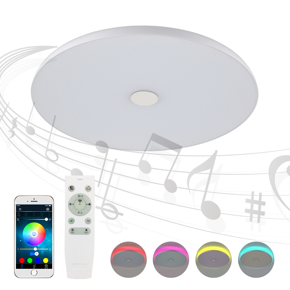 LightMe 36W Music Color Light Change LED Ceiling light Smart Bluetooth RGBW Smart Wireless Adjustable Home LED Ceiling Lamp AC tanbaby 4 5w e27 rgbw led light bulb bluetooth 4 0 smart lighting lamp color change dimmable for home hotel ac85 265v