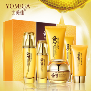 YOMEAG Royal Jelly Skin Care Set 6pcs Face Cream 50g+Cleanser 120g+Eye Cream 30g+BB Cream 40ml+Toner 100ml+Essence Lotion 100ml 2018 new mce brand quartz watches for women fashion roman numerals simple watch casual stainless steel leather strap clock 002