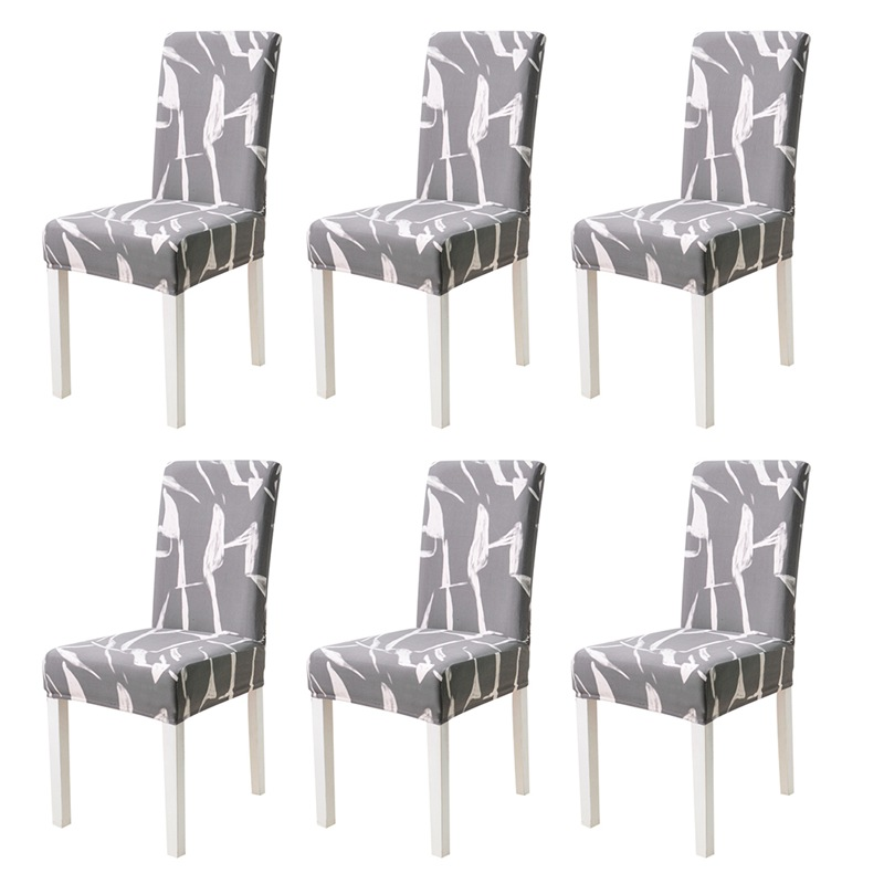 6//10PCS Removable Dining Room Chair Covers Slipcover Wedding Banquet Party LOCA