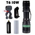 Cree XML T6 LED Penlight Portable Pocket Torch Bike Light Lamp 18650 Rechargeable Tactical Police Flashlight  Hunting Camping