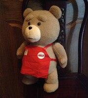 48 cm ted phim kích thước cuộc sống teddy bear plush toy, ted gấu nhồi bông búp bê lớn ném gối cushion