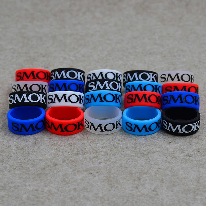 10pc Smok rubber Silicone vape band ring or vapor silicone band rings is decorative and protective for E cig and box mod or tank