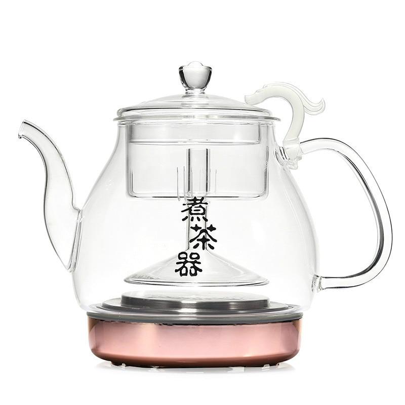 Full automatic black tea brewed ware glass set steam pu er