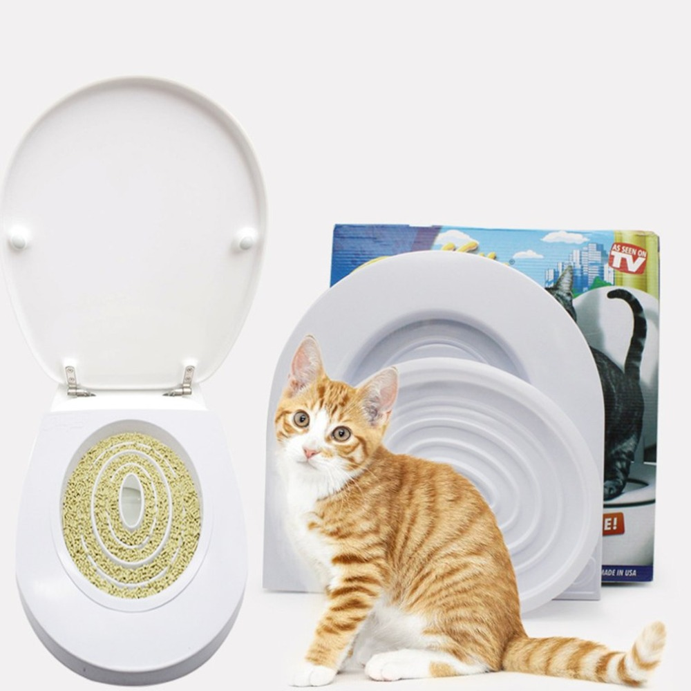 Pet Cat Toilet Training Kit Pet Tray Kit Hygienic Potty Training Potty Training Pet Hygiene Training Step-by-step System Supplie #1