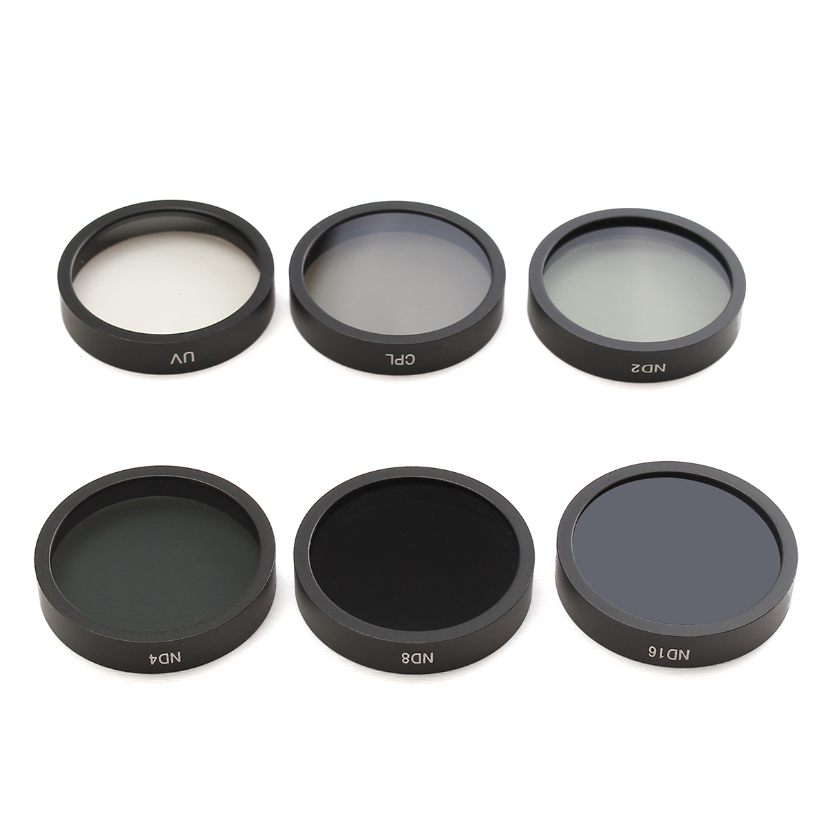 6PCS ND2 ND4 ND8 ND16 CPL UV Camera Lens Filters With Case For DJI Phantom 4/3 HD6PCS ND2 ND4 ND8 ND16 CPL UV Camera Lens Filters With Case For DJI Phantom 4/3 HD