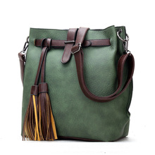 HOT SaleNew Women PU Leather Handbags For Woman Fashion Designer Black Bucket Vintage Shoulder Bags Women Messenger Bag