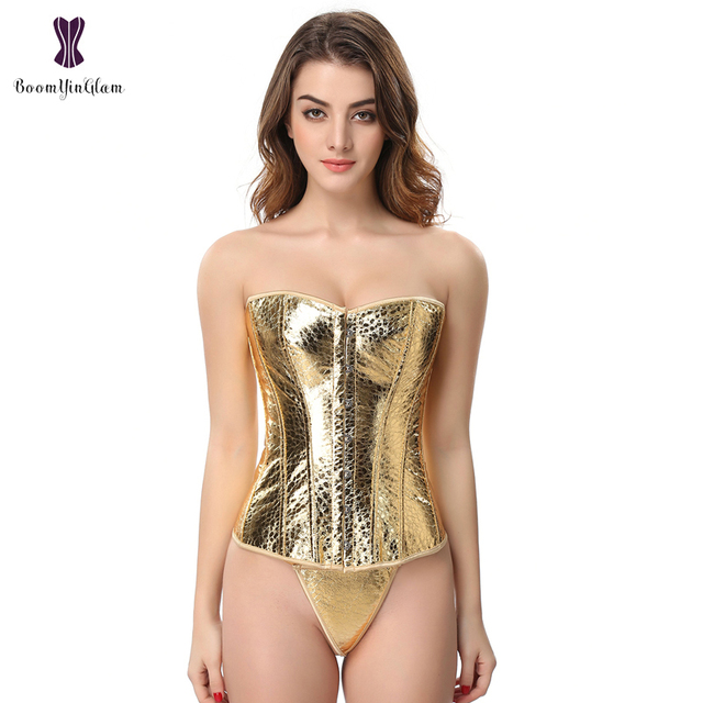 Women Waist Corset gold shapers set with underwear Everyday Waist Cincher Slimming Appliques Shapewear Golden Bodysuit 845