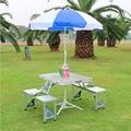 2018 Silla de mesa plegable al aire libre Camping de aleación de aluminio mesa de Picnic resistente al agua Ultra ligera mesa plegable de escritorio para