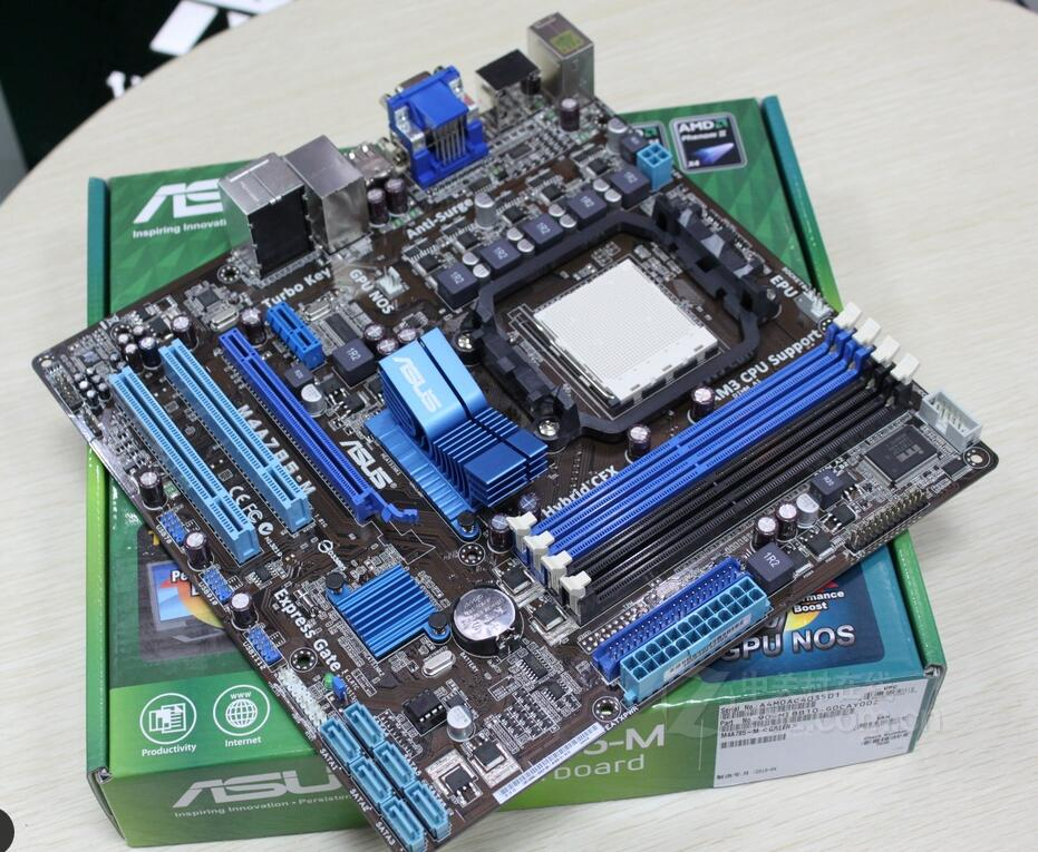 Used original motherboard for Asus M4A785-M DDR2 AM2 AM2+ 8GB fully integrated USB2.0 MHDI Desktop motherborad asus g31 motherboard g31tlm g31tlm2 fully integrated g31tm v1 0 lot