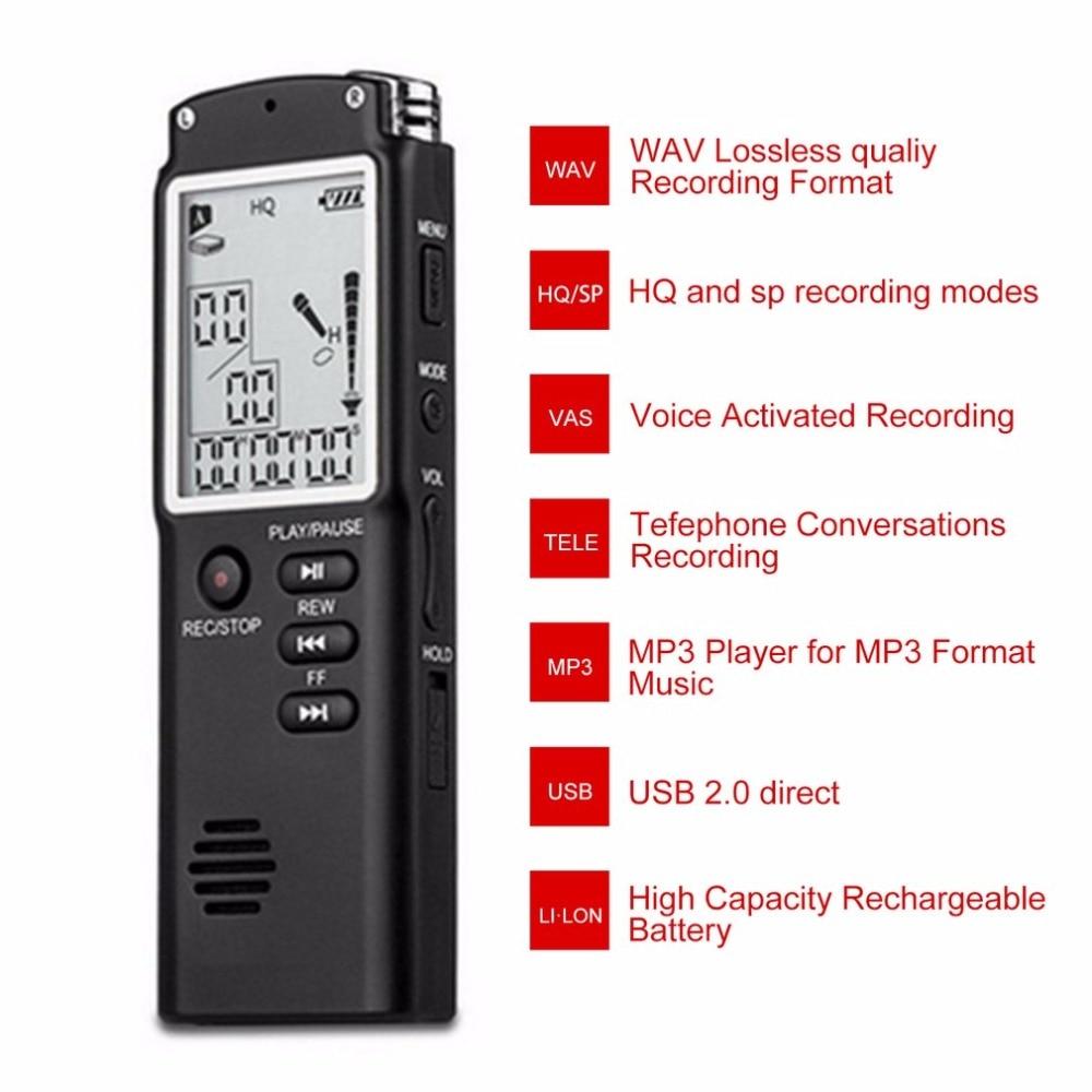 Tragbares Audio & Video Mini 8 Gb Professionelle Sprachaufnahme Gerät Zeit Display Großen Bildschirm Digital Voice Audio Digital-audiosprachaufzeichnungsanlage-diktaphon-mp3-player Digital Voice Recorder