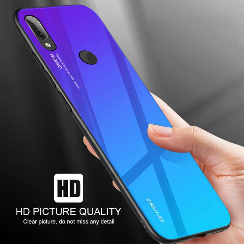 勾配強化ガラス電話ケース Huawei 社 P30 P20 P10 メイト 20 プロ Lite ライト裏表紙保護ケースシェルためメイト 20x