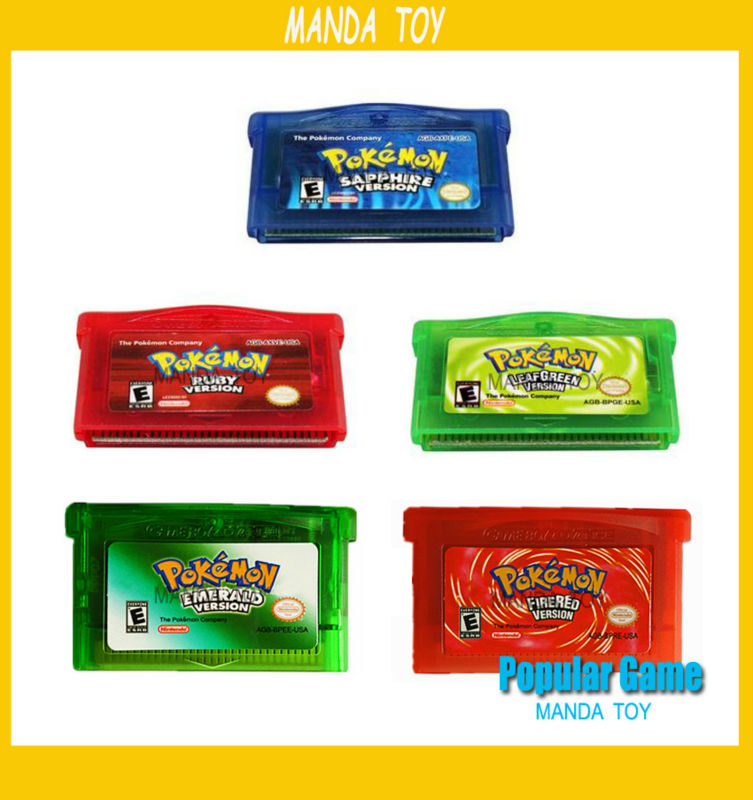100pcs/lot GBA GAame Poke Collective Edition Video Game Cartridge Console Card For Game Boy Advance English Version
