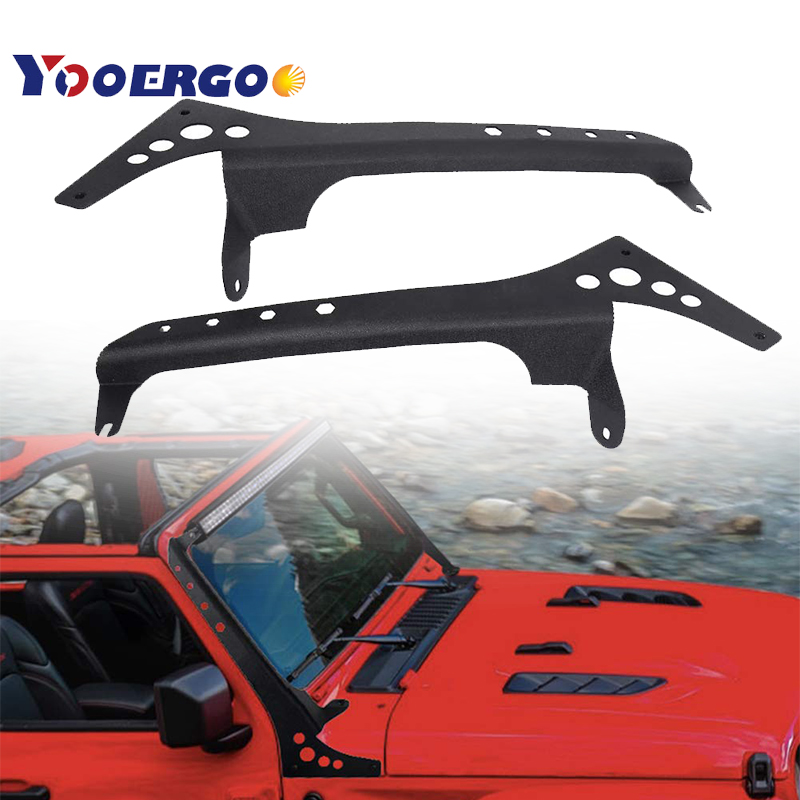 Nuevo Producto barras de luz Led de 52 pulgadas soporte de montaje de parabrisas superior para Jeep Wrangerl JL 2018 + modelo