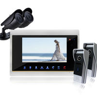 YSECU Touch Screen 7 Video Door Phone Doorbell Intercom Support SD Card Picture Support Record Taking