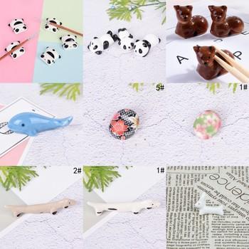 Ceramiczne Panda królik paznokci długopis stojak na szczotki uchwyt stojak obsadka do pióra mały pulpit pojemnik na ołówki pojemnik stojak na pędzelki do makijażu tanie i dobre opinie Jiauting nail brush holder Panda pen Stand Holder