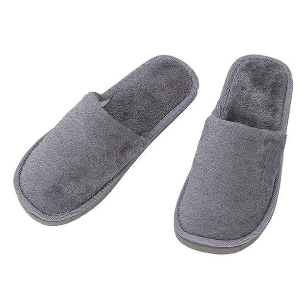 Gray Fleeces Men Slippers UK 8.5 for Feet Length 27 cm Plush winter Warm Slippers Indoor Soft Couple indoor Slippers soft plush big feet pattern novelty slippers