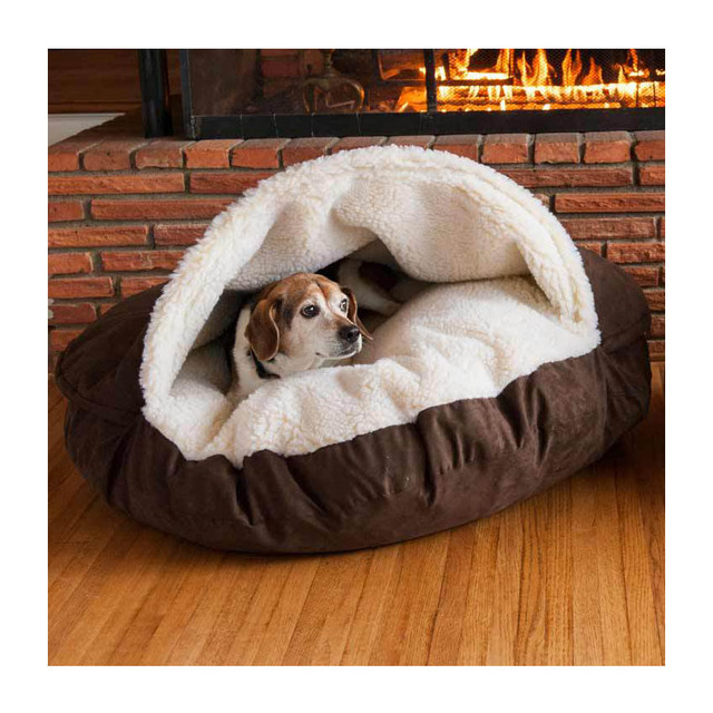 Dog Cave Bed Cotton Washable Waterproof Pet Bed
