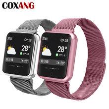 Купить с кэшбэком COXANG P68 Smart Watch For Women 1.3 Inch IPS Color Screen Ip68 Waterproof Pedometer Activity Smartwatches For Apple IOS Android