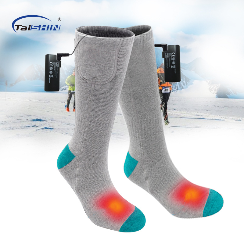 Electric Heated Socks Warm Socks with Rechargeable 3.7-Volt Battery Elastic Health winter feet warmer Socks for outdoor sports цены