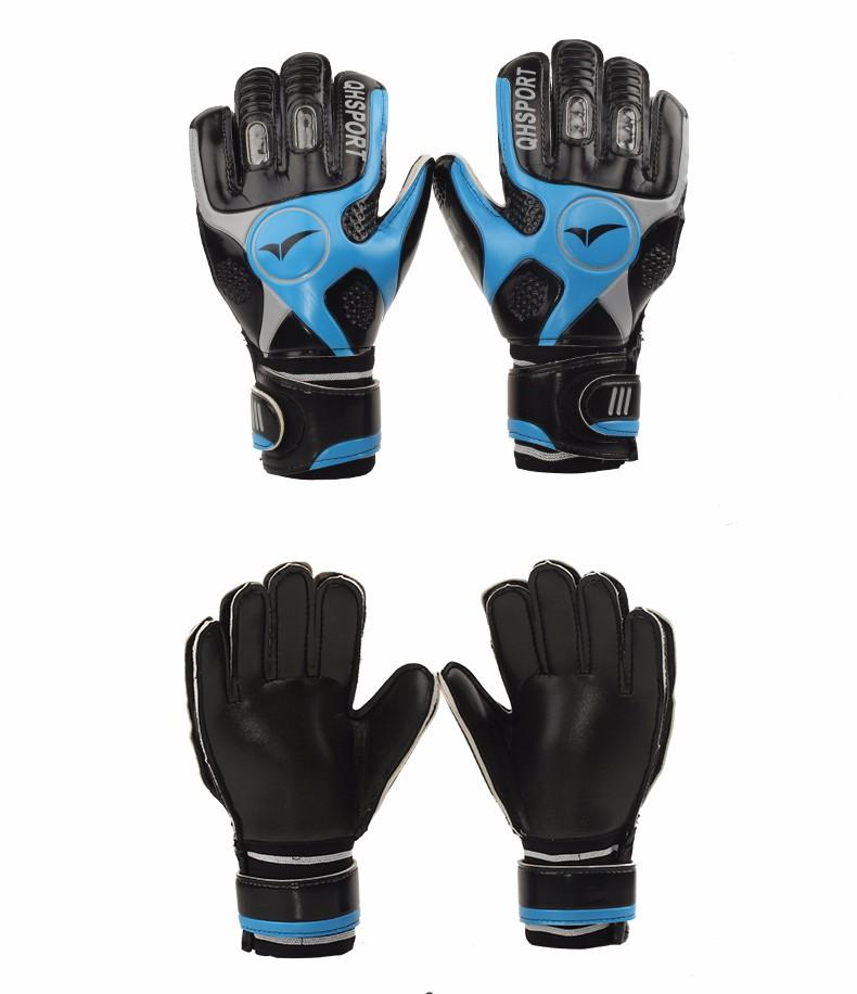 2017 Men Soccer Goalkeeper Gloves Wearable Slip Resistant Football Keeper Latex Goalie Gloves Professional Double Protection 2