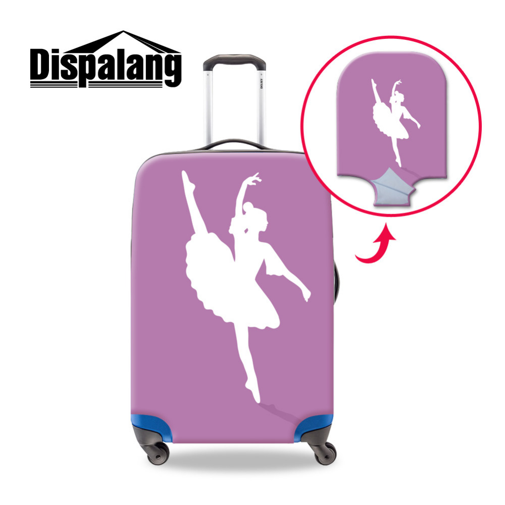 Ballet-6 3D Animal Printed Luggage Protective Cover Waterproof Suitcase Cover with Zipper for 18-30 Inch Travel Bag Elastic Luggage Cover