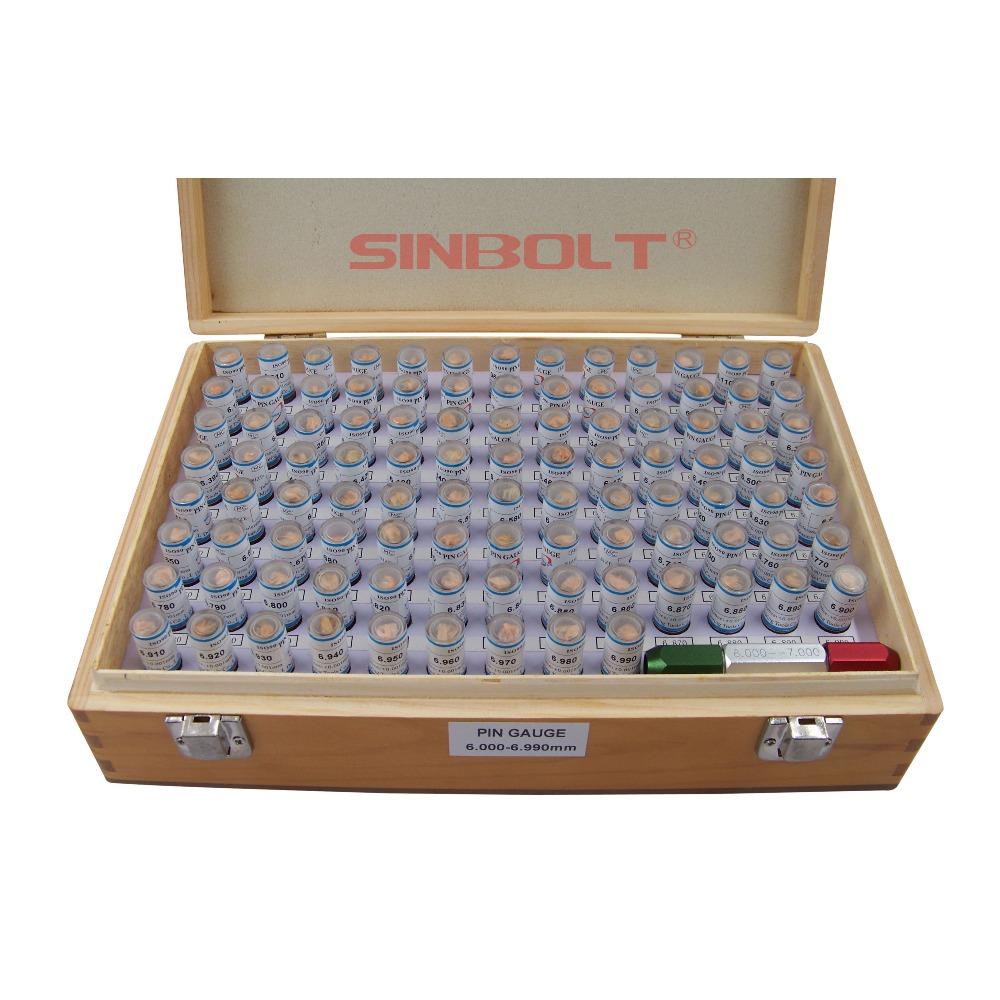 Sinbolt plug Gauge/calibre pino Conjunto, 6.000mm -- 6.990mm, 100 pcs + Pin Calibre Punho, entrega rápida!