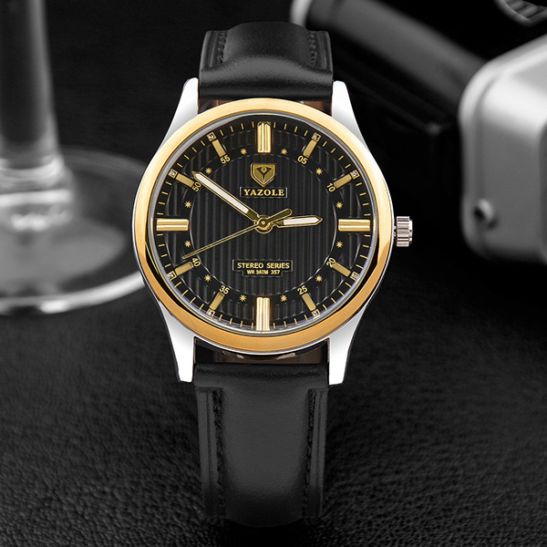 YAZOLE 2017 Business Quartz Watch 3D Dial Design Wristwatches Male Clock Top Brand Luxury Famous Men Watches Relogio Masculino