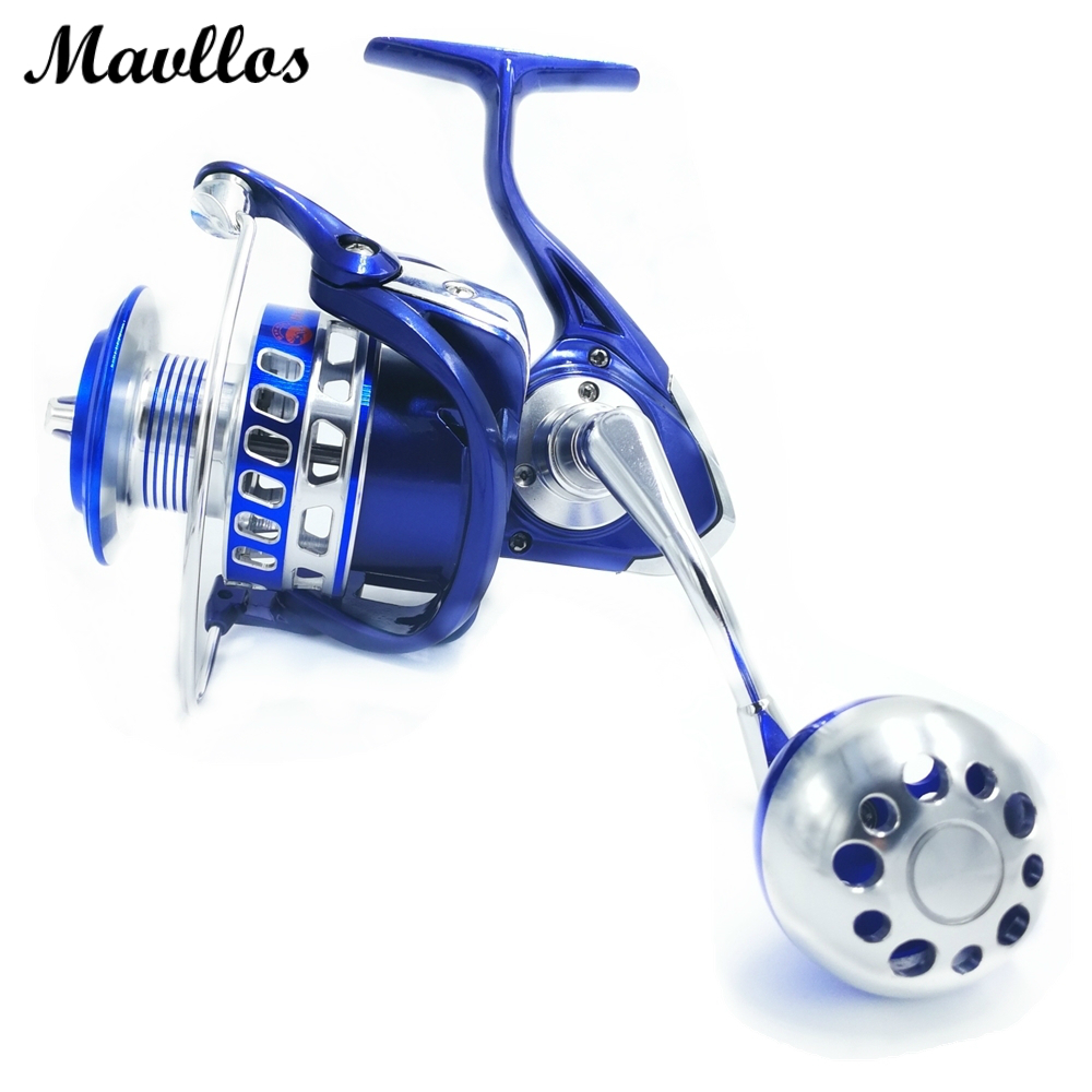 Фотография Mavllos Max Drag 25-35kg Saltwater Proof Fishing Spinning Reel 13BB Aluminum Alloy Metal Slow Jigging Reel Jig Boat Fishing Reel