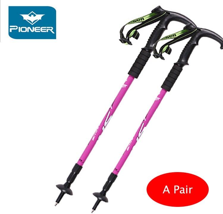 Point Break 2 шт./Pioneer 2 отдел portland-Langya альпенштоками костыль изогнутой ручкой 5 видов цветов может быть выбран