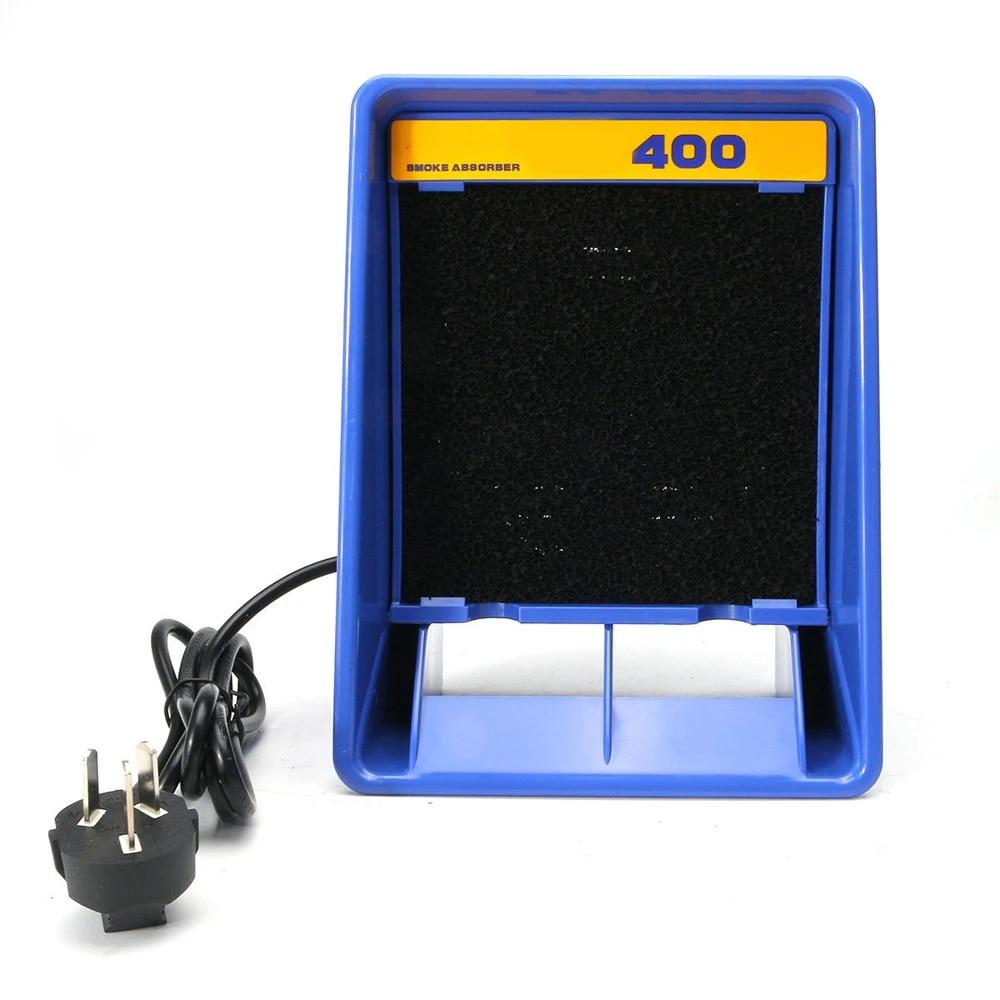 soldering weldings exhaust smoke absorber fume extractor fan air filter 220v soldering smoke absorber sponge filter carbon new