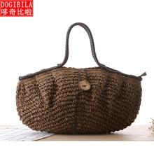 29bb7e45c5 DOGIBILA 2019 nouveau sac de paille à boucle de noix de coco sauvage sac à  bandoulière grande capacité sac à bandoulière sac de .