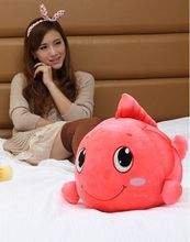 new creatinve watermelon red plush fish toy  lucky fish doll fortune fish doll gift about 36cm
