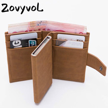 ZOVYVOL 2019 New Style RFID Card Holder And Minimalist Wallet Metal Men Women Single Box Aluminium Blocking for Cards
