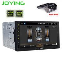 Joying Android 8,1 gps навигации 2 Дин радио плеер 7 двойной din Авто аддио Octa Core DPS HD аудио HD экран с бесплатной DVR