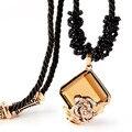 De alta Calidad de La Manera Collares Largos Para Las Mujeres Collares de Cristal de Joyería Clásica Cadena de la Cuerda Colgante de Collar de Joyas