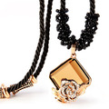 High Quality Fashion Long Necklaces For Women Crystal Necklaces Classic Jewelry Rope Chain Pendant Necklace Jewellry