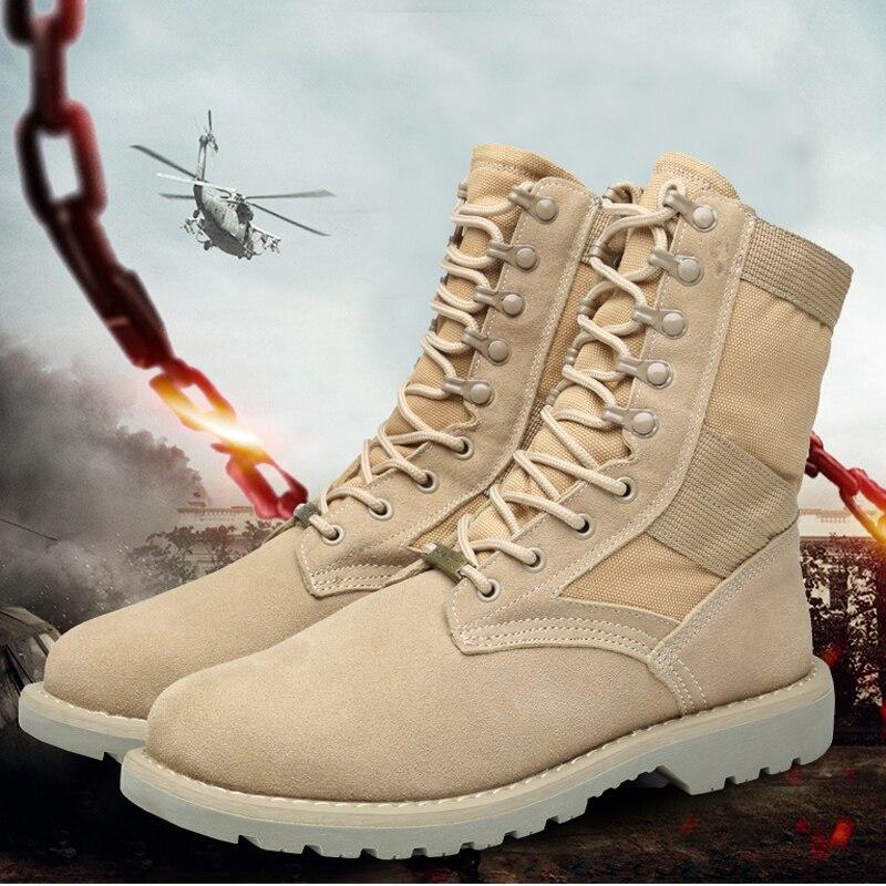Men's Boot Ankle Boots Mens Mid Calf Desert Boot Leather Men Winter Boots Men Lace up Military Mens Combat Shoes Big Size 11 47