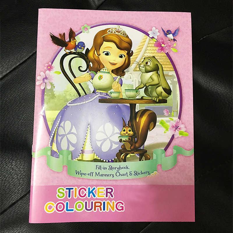 16 страниц раскраска книга софия стикер детские книги