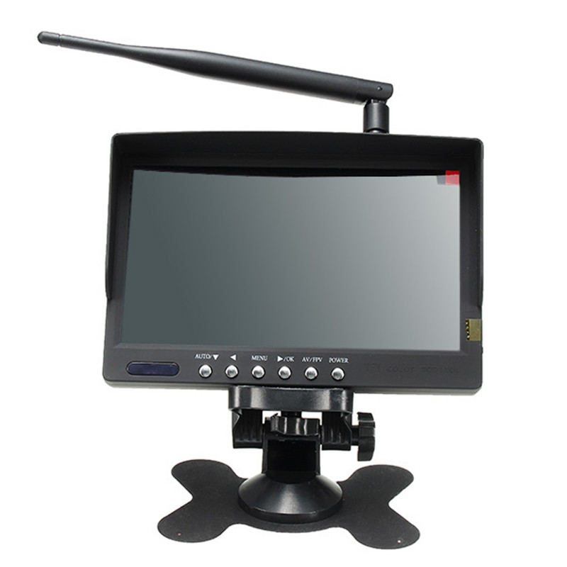 5 8G 40CH 7 Inch Auto Search TFT LED FPV Monitor Built in Lipo Battery Rechargeable