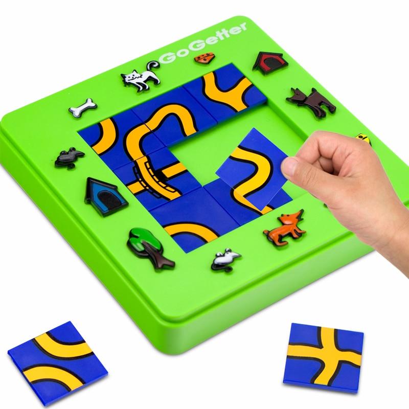 Oeuf chat et souris labyrinthe avion Animal logique Puzzle jeu de société