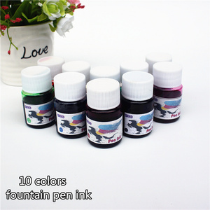 Fountain Pen ink 15ML 10 colors portable pen ink quality is not hurt pen(China)