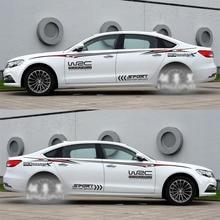 Puerta del coche Calcomanía Resistente Al Agua Pegatinas WRC Motor Sports para Car Styling Decoración Tatuajes de Cuerpo Completo Auto Deportivo