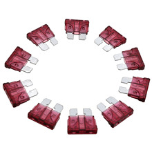 MAYITR 2017 New 10pcs 40A Auto Fuse Coded Standard Blade PC + Zn Alloy for Car Truck Purple Red Color
